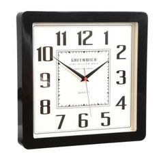 Debenhams Black retro wall clock- at Debenhams Mobile