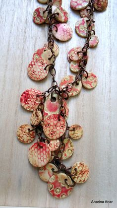 Polymer clay necklace by AnarinaAnar on Etsy, €38.00