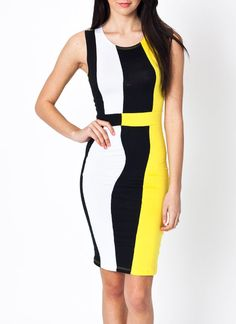 sleeveless colorblock dress $24.40