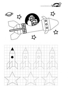 printables for kids Montessori Activities, Writing Activities, Toddler Activities, Space Projects, Projects For Kids, Space Crafts For Kids, Valentina Tereshkova, Teacher Supplies, Pre Writing