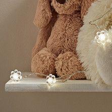 Crystal Warm White Flower Battery Fairy Lights