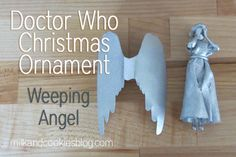Doctor Who Christmas tree. Loads of DIY ornaments, including a Weeping Angel!