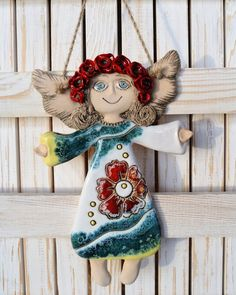 Guardian angel clay sculpture ceramic art wall decoration small gift romantic style rustic home decor colored figure ornament angel Guardian angel clay sculpture ceramic art wall decoration Elephant Sculpture, Sculpture Clay, Ceramic Elephant, Ceramic Art, Home Decor Colors, Colorful Decor, Easter Island Statues, Ceramic Angels, Clay Ornaments