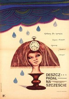 Deszcz padal na szczescie, Polish Movie Poster