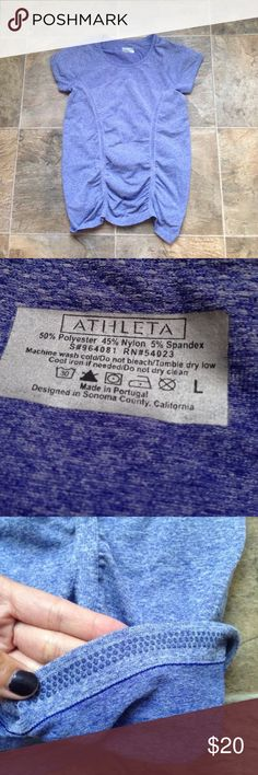"""Athleta Women Large Fitness Top Light Purple Measurements:   Armpit to armpit: 16.5""""   Length: 25""""   Please feel free to message me with any questions or concerns! Happy Shopping! Athleta Tops"""