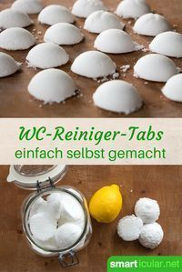 Make toilet cleaner tabs yourself with simple home remedies- WC-Reiniger-Tabs selber machen mit einfachen Hausmitteln With these little helpers you clean the toilet bowl in the blink of an eye and dispel unpleasant odors. House Cleaning Tips, Diy Cleaning Products, Cleaning Hacks, Diy Hacks, Pot Mason Diy, Mason Jars, Simple House, Clean House, Wc Tabs