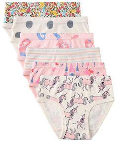 bf57eb03d573 6 Pack Little Girl Underwear Cotton - Baby Girls Panties Briefs Toddler  Girl's Undies - Unicorn - CC18DWC9EY5 - Girls' Clothing, Underwear, Panties  #Panties ...