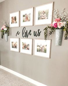 Farmhouse living room wall decor behind couch 28 ideas for 2019 Living Room Decor, Family Wall Decor, Home Living Room, Apartment Decor, Wall Decor Living Room, Hallway Wall Decor, Diy Home Decor, Farm House Living Room, Hallway Decorating
