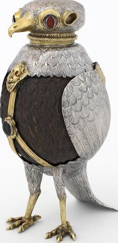 Silver-gilt cup in the form of a partridge, Jorg Ruel, Nuremberg, Germany, about ca 1600.