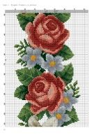 Gallery.ru / Фото #8 - 145 - markisa81 Beaded Embroidery, Embroidery Patterns, Hand Embroidery, Cross Stitch Patterns, Elegant Flowers, Cross Stitch Rose, Needlepoint, Needlework, Free Pattern