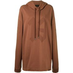 Fenty X Puma graphic hoodie (€165) ❤ liked on Polyvore featuring tops, hoodies, brown, brown hoodie, brown hoodies, brown hooded sweatshirt, cotton hooded sweatshirt and graphic tops