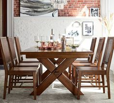 Pottery Barn Toscana Extending Dining Table, Tuscan Chestnut Design Inspirations