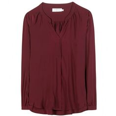 Velvet Kinzly Blouse (€140) ❤ liked on Polyvore featuring tops, blouses, purple, red blouse, purple blouse, velvet blouse, purple top and velvet tops