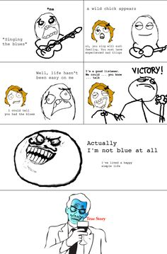 9a011d10ecd560c58718c030b621703c singing blues le rage comics (leragecomicspin) on pinterest
