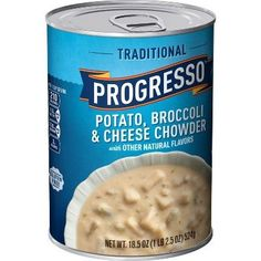 Progresso Potato, Broccoli & Cheese Chowder Soup - 18.5oz #broccolicrockpot Broccoli Crockpot, Chowder Soup, Cheese Soup, Broccoli And Cheese, Natural Flavors, Feel Good, Potatoes, Vegetables, Crock Pot