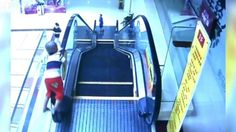 Child Falling from Escalator in China