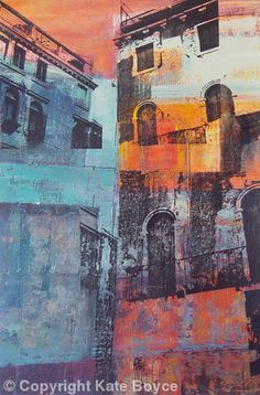Venetian Dwellings - Mixed Media on Canvas