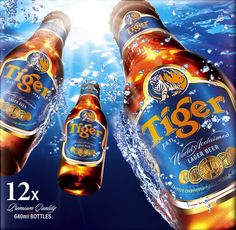 Tiger Beer has been brewed with dedication in the heart of the Far East since 1932, using only the finest natural ingredients of hops, malted barley and a special strain of cultured yeast, to deliver its distinctive, clean, crisp taste. Tiger Beer is an award winning lager that has won accolades the world over, including more than 30 international brewing gold medals since 1939.