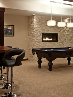 Contemporary Basement Contemporary Fireplace Design, Pictures, Remodel, Decor and Ideas - page 3