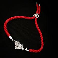 Červený zirkónový náramok so srdiečkom, MBZ002 Pandora Charms, Charmed, Bracelets, Jewelry, Jewerly, Jewlery, Schmuck, Jewels, Jewelery