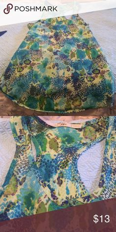 Gibson Nordstrom Ocean Print Tank M Gorgeous colors in this tank by Gibson. Tank is a size medium in excellent condition. 100% polyester. Gibson Tops Tank Tops