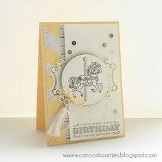 Carousel Designerpapier Stampin'UP Karte selbst gebastelt