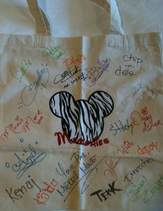Instead Of An Autograph Book, Have Characters Sign A Canvas Tote Bag