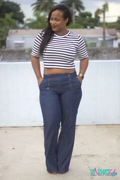 Who said that #curvywomen can't rock the Wide Leg Jeans. Check out my post here http://taltak.com/1eZuOMR #miamifashionbloggers #fashion #fbloggers #style #Curvystyle #hm #stevemadden #rockthecrop