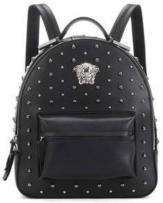 91ddf886c7 Versace City Stud Palazzo Empire backpack - afflink Studded Backpack