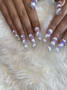 Sparkly Acrylic Nails, Acrylic Nail Designs Coffin, Long Square Acrylic Nails, Acrylic Nails Coffin Short, Best Acrylic Nails, Coffin Nails, Winter Acrylic Nails, Glitter Toe Nails, Ballerina Acrylic Nails
