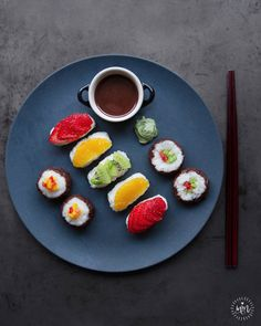 """COCONUT CREAM FRUSHI (wholesome sweet """"sushi"""" with fresh fruit)                                                                                                                                                     More"""