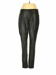 NWT HUE Metallic Super Smooth Denim Skimmer Black Jean Legging Jegging Size XS-M