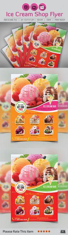 Ice Cream Shop Flyer Template - Restaurant Flyers