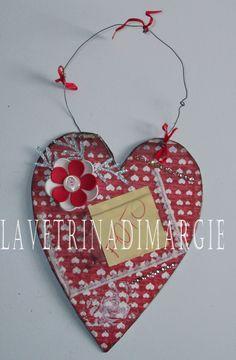 Cardboard fame Valentine day