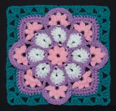 Ravelry: Project Gallery for JulieAnny's Stained Glass Afghan Square pattern by Julie Yeager