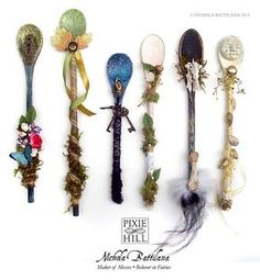 Pixie Hill || Kitchen Witch Spoon Wands