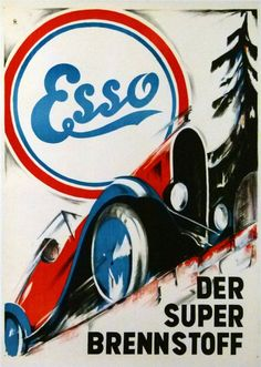 ESSO Der Super Brennstoff ESSO Le Super Carburant :: MASTER POSTERS