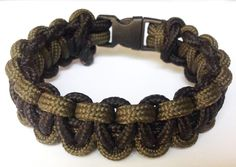 Paracord Cobra Weave Bracelet [army green-black]
