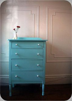 Someday I will paint my white dresser this color...