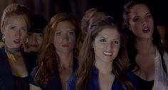 Lilly (Hana Mae Lee), Aubrey (Anna Camp), Chloe (Brittany Snow), Beca (Anna Kendrick), Stacie (Alexis Knapp) ~ Pitch Perfect (2012) ~ Movie Still #amusementphile