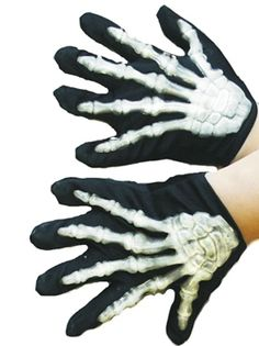 glow in the dark skeleton gloves  - don't we have some of these?