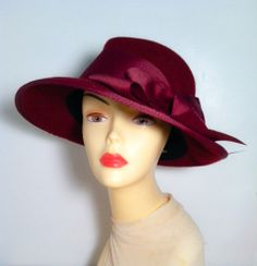 Millinery  Hand Made  Felt Hat  The Madison by katherinecareyhats, $250.00