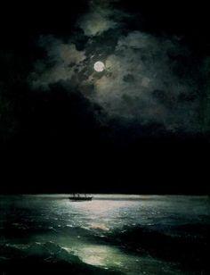 Ivan Aivazovsky, The Black Sea at Night 1879