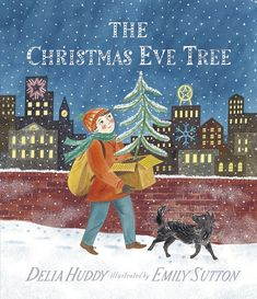 The Christmas Eve Tree (Candlewick Press, September written by Delia Huddy with illustrations by Emily Sutton brings two lost beings together. Christmas Tale, Magical Christmas, Little Christmas, Country Christmas, Beautiful Christmas, Thomas Kinkade, Aladin, Illustrator, Christmas Tree Pictures