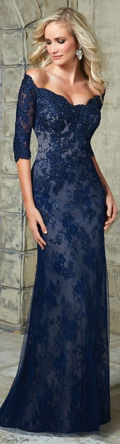 VM Collection ~ Midnight Blue Lace Gown