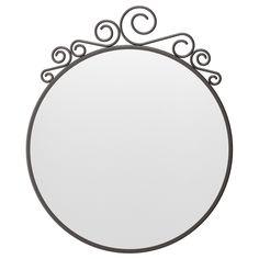 IKEA - EKNE, Mirror, , , Safety film reduces damage if glass is broken. Ikea Living Room, Ikea Bedroom, Bedroom Decor, Bedroom Turned Closet, Dressing Room Closet, Mirror Art, Ikea New, Diy Vanity, Decorative Accents