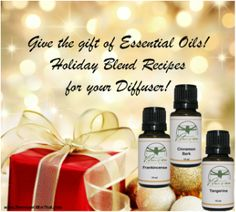 Essential Oils is a great gift to give! Follow our link to get great recipes!