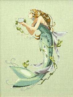 """Queen Mermaid"" - counted cross stitch - Mirabilia"