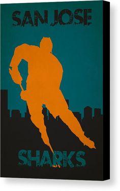 Sharks Canvas Print featuring the photograph San Jose Sharks by Joe Hamilton