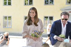 Princess Madeleine of Sweden, Princess Leonore of Sweden and Christopher O'Neill are seen visiting Gotland Museum in Gotland, Sweden. Duchess Leonore meets her horse Haidi of Gotland for the first time